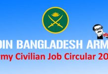 Army Civilian Job Circular